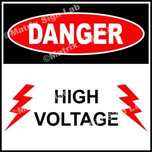High Voltage Sign - MSL17182