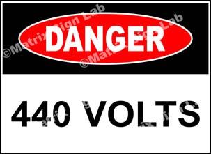 440 Volts Sign