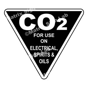 Co2 - For Use On Electrical, Spirits And Oils Sign
