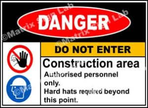 Construction Area Do Not Enter Sign - MSL2200