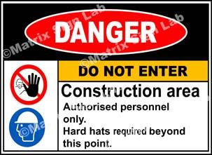 Construction Area Do Not Enter Sign - MSL2200