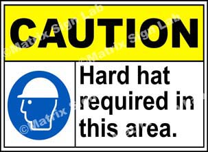 Hard Hat Required In This Area Sign - MSL19047