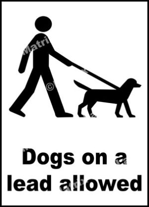Dogs On A Lead Allowed Sign