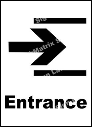 Entrance Right Sign