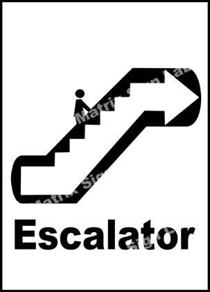 Escalator Sign