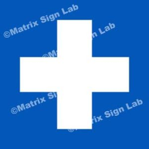 Hospital Cross Sign