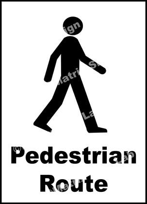 Pedestrian Route Sign