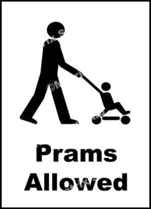 Prams Allowed Sign