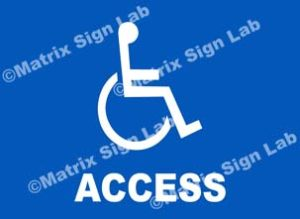 Disabled Access Sign - MSL7069