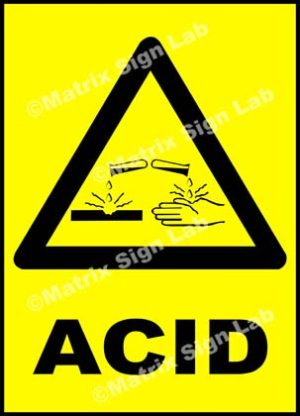 Acid Sign - MSL18204