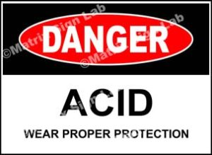 Acid Wear Proper Protection Sign