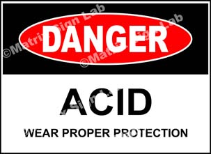 Acid Wear Proper Protection Sign