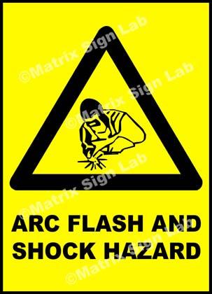 Arc Flash And Shock Hazard Sign