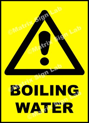 Boiling Water Sign