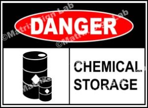 Chemical Storage Sign