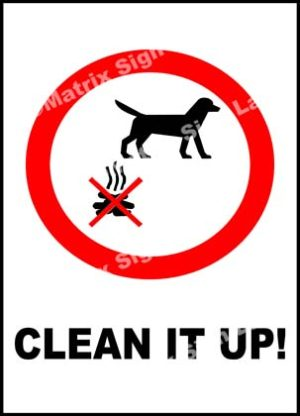 Clean It Up! Sign