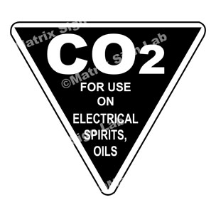 Co2 For Use On Electrical Spirits, Oils Sign