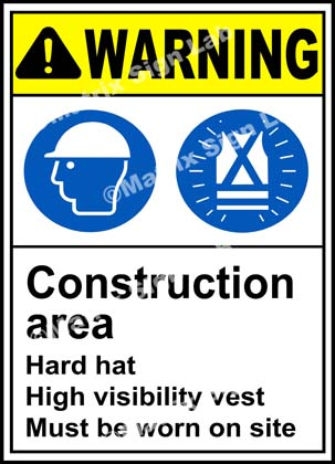 Construction Area Warning Sign