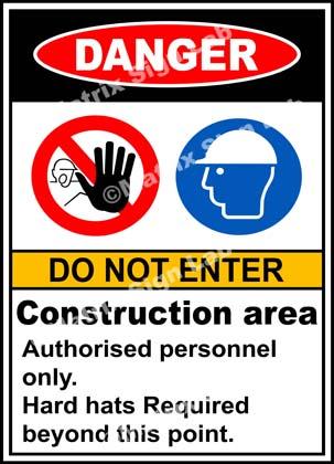 Construction Area Do Not Enter Sign - MSL19112