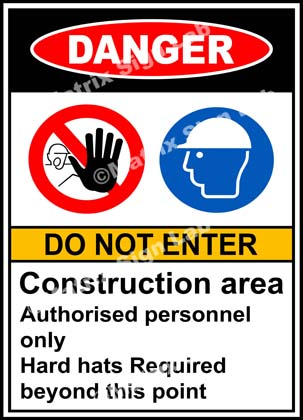 Construction Area Do Not Enter Sign - MSL19112