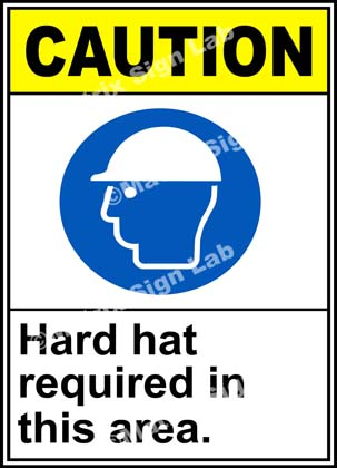Hard Hat Required In This Area Sign - MSL19160