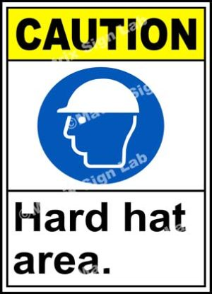 Caution Hard Hat Area Sign - MSL2966
