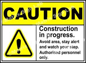 Construction In Progress Sign - MSL19599