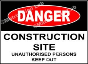 Construction Site Unauthorised Persons Keep Out Sign - MSL5329