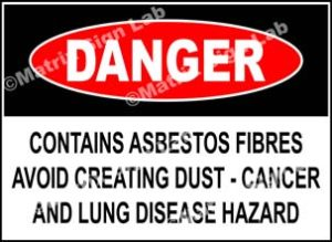Contains Asbestos Fibres Avoid Creating Dust - Cancer And Lung Disease Hazard Sign