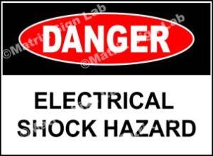 Electrical Shock Hazard Sign