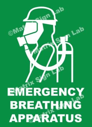 Emergency Breathing Apparatus Sign