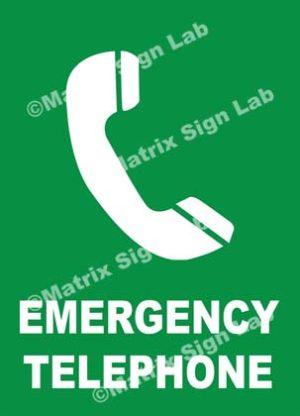 Emergency Telephone Sign