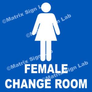 Female Change Room Sign