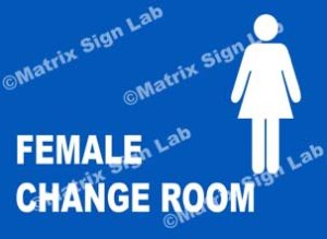 Female Change Room Sign