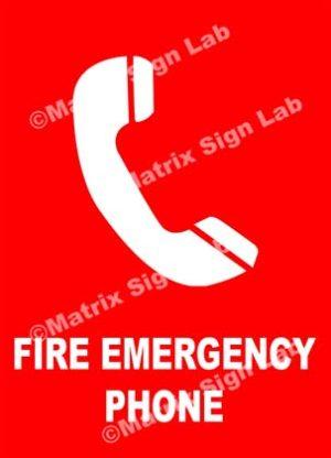Fire Emergency Phone Sign