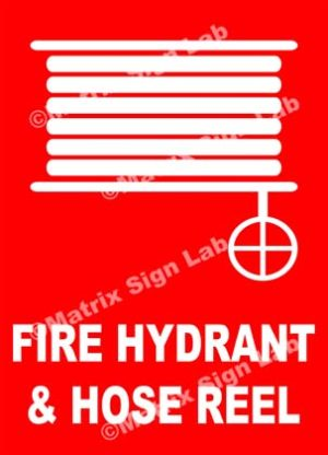 Fire Hydrant And Hose Reel Sign