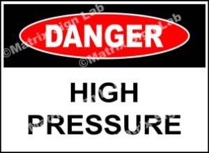 High Pressure Sign