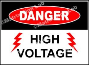 High Voltage Sign - MSL17182