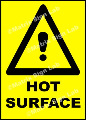 Hot Surface Sign