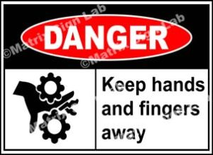 Keep Hands And Fingers Away Sign