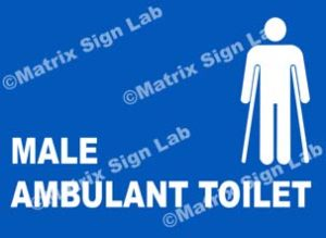 Male Ambulant Toilet Sign