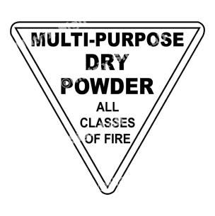 Multi-Purpose Dry Powder - All Classes Of Fire Sign