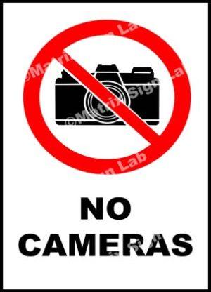No Cameras Sign