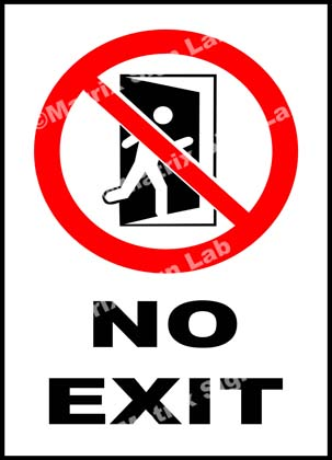 No Exit Sign - MSL20475