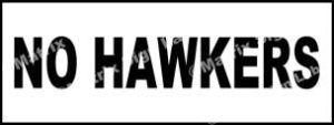 No Hawkers Sign