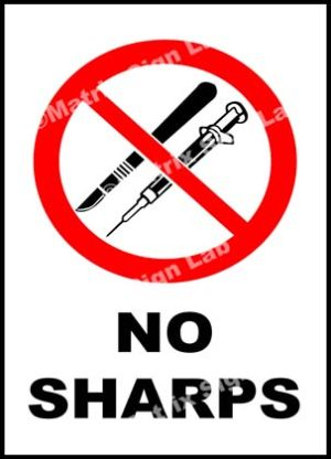 No Sharps Sign