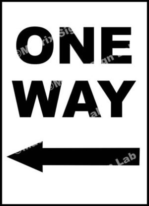 Left One Way Sign