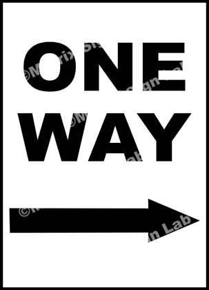 Right One Way Sign