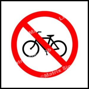 Cycle Prohibited Sign