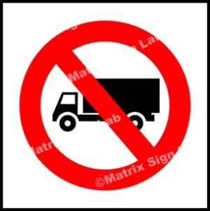 Truck Prohibited Sign